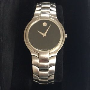 AUTHENTIC MOVADO STAINLESS STEEL PORTICO WATCH